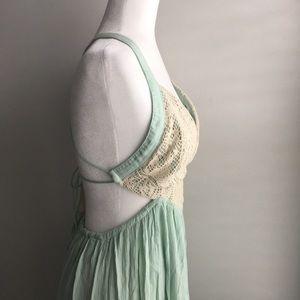Mint green Fashion Nova maxi dress size small